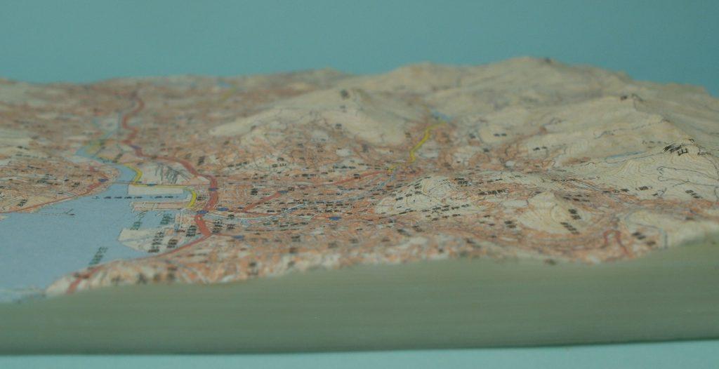 長崎市地形模型(側面(東))