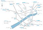 大阪から尼崎の路線図