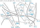 福岡視覚特別支援学校周辺の触地図
