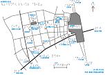 新宿駅西口周辺の触地図