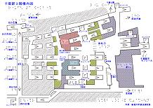 千葉駅の触地図