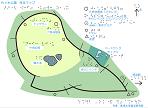 代々木公園ランニングコースの触地図(点字あり)
