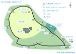 代々木公園ランニングコースの触地図(点字なし)