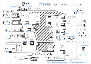 JR新宿駅の触知案内図