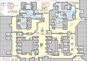 東京駅の触知案内図