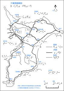 千葉県鉄道路線図の触地図