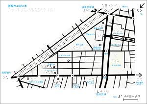 函館市上新川町の触地図