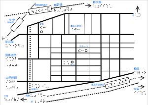 神戸アイライト協会周辺の触地図