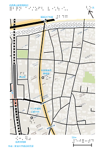 名鉄青山駅東口の触地図