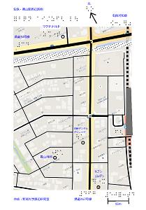名鉄青山駅西口の触地図