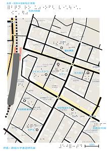 名鉄知多半田駅東口の触地図7